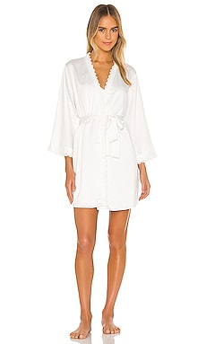 Victoria Solid Charmeuse Wrap Robe Flora Nikrooz $68 BEST SELLER