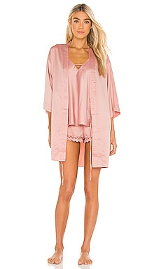 Victoria Solid Charm Wrap Robe Flora Nikrooz $48