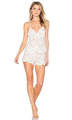 Dorothy Embroidered Cami & Short Set en Candlelight
