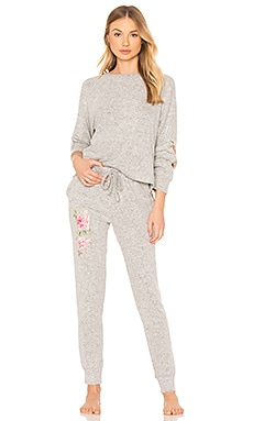 Skylar Knit PJ Set With Embroidery