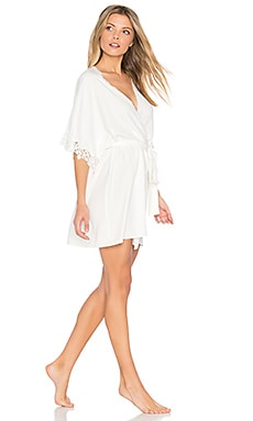 Leslie Matt Charmeuse Lace Cover Up in Ivory