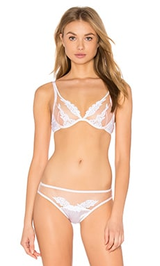 Ophelia Plunge Bra in White