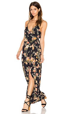 Wrap Around Dress in Night Blossom