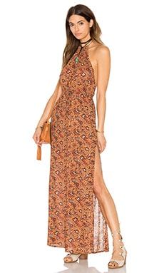 FLYNN SKYE Madison Dress in Brick Blossom