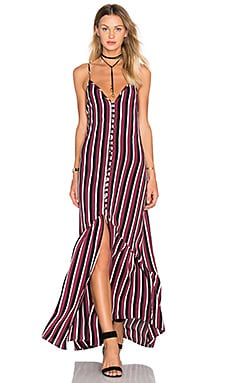 FLYNN SKYE Unbutton Me Dress in Stripe