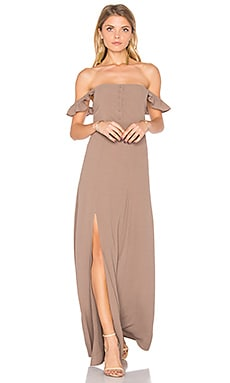 Bardot Maxi Dress in Taupe