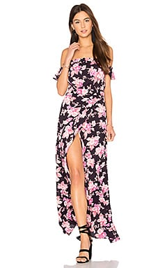 Bella Maxi Dress in Black Blossom