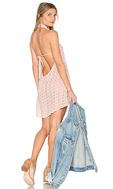 Ariana Mini Dress in Pink Eyelet in Blush Eyelet