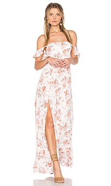 Bardot Maxi Dress in Cream Blossom
