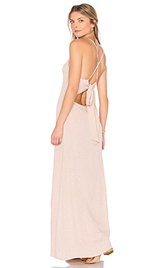 Adaline Maxi Dress in Beige Orbit