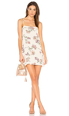 Summer Slip Dress in Cream Botanical