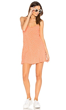 Molly Mini Dress in Tangerine Dots