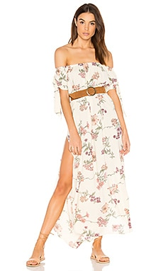 Maple Maxi Dress in Cream Botanical