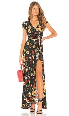 All Wrapped Up Maxi Dress FLYNN SKYE $218 BEST SELLER