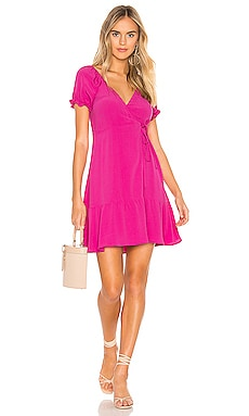 Annabelle Wrap Mini Dress FLYNN SKYE $126