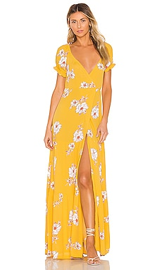 Annabelle Wrap Maxi Dress FLYNN SKYE $96 (FINAL SALE)