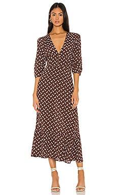 Elsie Midi Dress FLYNN SKYE $198 NEW ARRIVAL