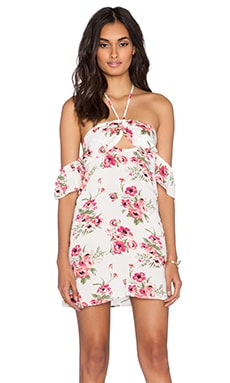 FLYNN SKYE Err Night Mini Dress in Pink Poppy
