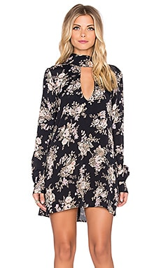 FLYNN SKYE Leah Mini Dress in Black Magic