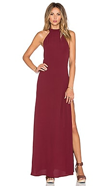 FLYNN SKYE Tyra Maxi Dress in Merlot