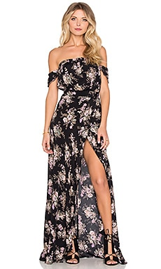FLYNN SKYE Bella Maxi Dress in Black Magic