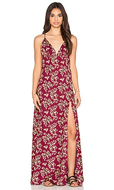 FLYNN SKYE Natalia Maxi Dress in Sangria Fields