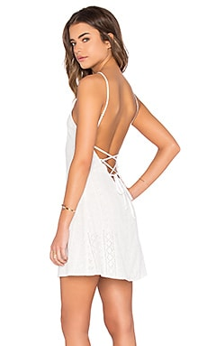 FLYNN SKYE Anastasia Mini Dress in White Eyelet