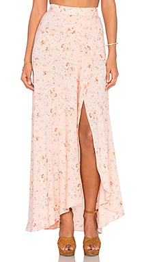 FLYNN SKYE Wrap It Up Maxi Skirt in Apricot Bliss