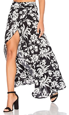 Wrap It Up Skirt in Black Out
