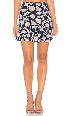 Milan Mini Skirt in Navy Poppy