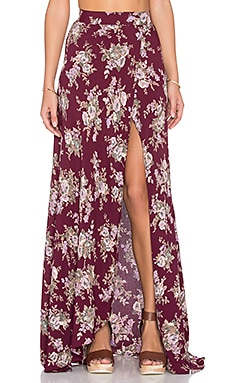FLYNN SKYE Wrap It Up Skirt in Rusty Godess