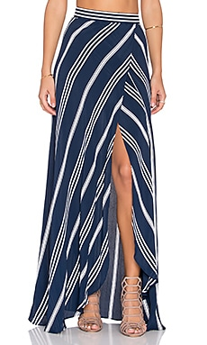 FLYNN SKYE Wrap It Up Skirt in Sapphire Stripe