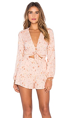 Piper Romper in Apricot Bliss