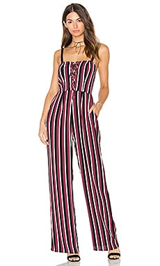 Jade Long Jumpsuit in Stripe