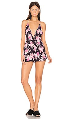 Rachel Romper in Black Blossom