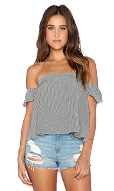 FLYNN SKYE I Love You Top in Black Stripe