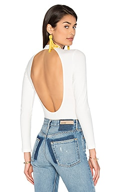 x REVOLVE Cody Bodysuit in White Ribbed