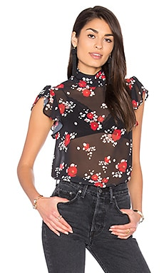 Alex Top in Rose Cluster Chiffon
