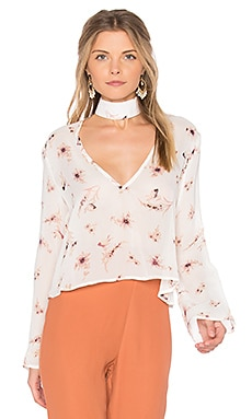 Memphis Top in Cream Garden Chiffon