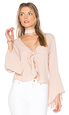 Knot Your Business Top in Beige Orbit