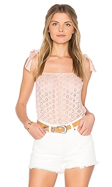 Karlie Bodysuit in Blush Eyelet
