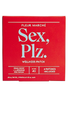 Sex, Plz CBD Patch 4 Count Fleur Marche $22 NUEVO