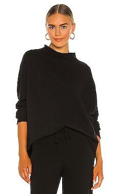 Long Sleeve Funnel Neck Capelet Sweatshirt Frank & Eileen $218