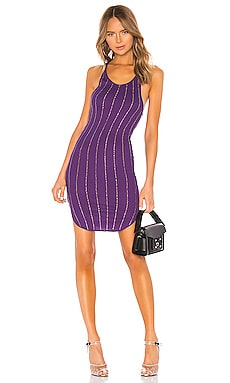 Shea Pinstripe Crystals Tank Mini Dress Frankie B $88