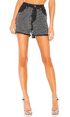 Brittany Crystals Denim Booty Shorts Frankie B $192