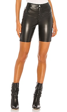 Gigi Vegan Leather Biker Short Frankie B $225
