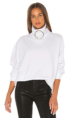 Claudette Ring Mock Neck Sweatshirt Frankie B $240