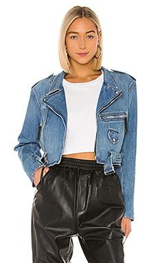 Jessie Denim Moto Jacket Frankie B $330