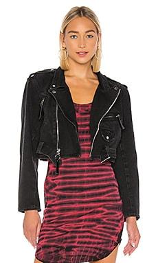 Jessie Denim Moto Jacket Frankie B $165