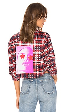 All Over Rhinestone Flannel Top Frankie B $395 NEW ARRIVAL
